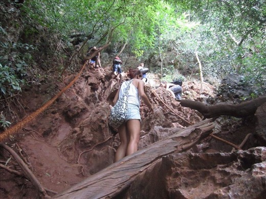 The jungle cliff climb, Railay