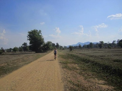 The old fashioned way - by bicycle to the waterfalls in Dondet. One of the 4,000 islands in southern Laos