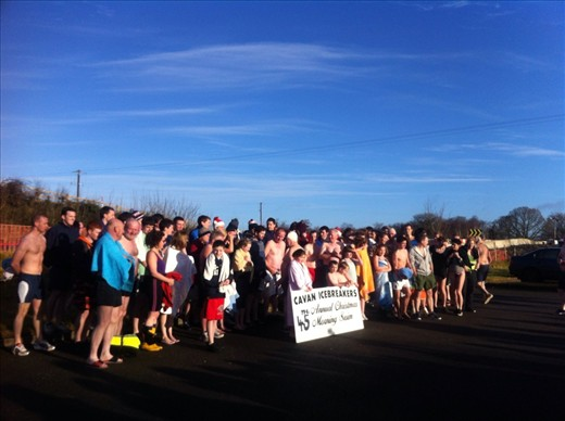 The Cavan ice breakers on Christmas day. The annual break the ice tradition 2012