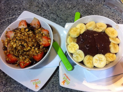 ACAI - an Amazonian berry that is eaten all over brazil with fruit, granola and honey. The most delicious thing I have ever had the liberty to taste.