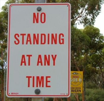 Look beyond the sign - well, I find it quite funny myself!