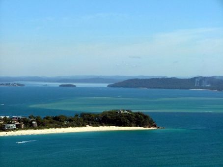 The beautiful natural harbour of Port Stephens penetrates more than 20km inland