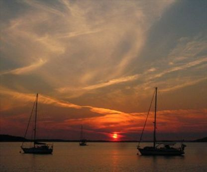 Sunset over Port Stephens
