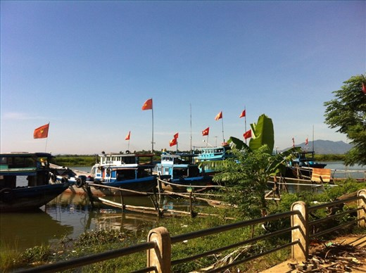 Boats along the river