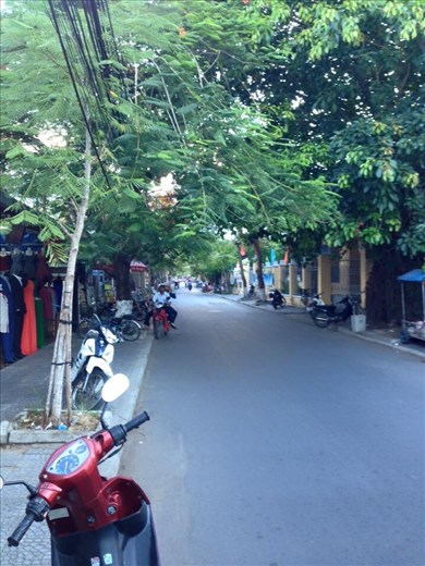 Streets are quiet in HoiAn.