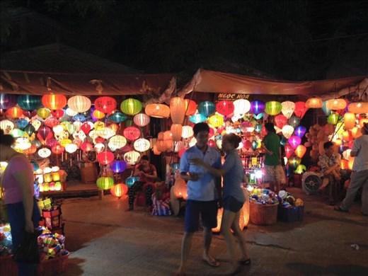 Lanterns are blazing.