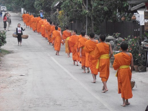 Monks setting out for the day