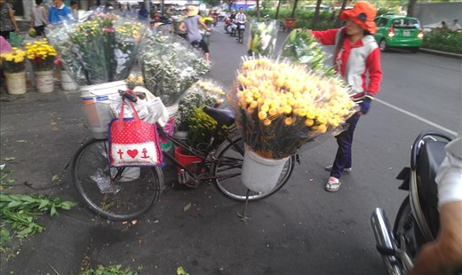 Flowers for sale at the market