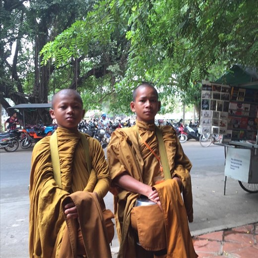 Young trainee monks in Siem Reap