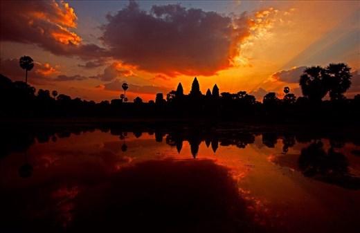 Sunset at Angkor Wat Complex