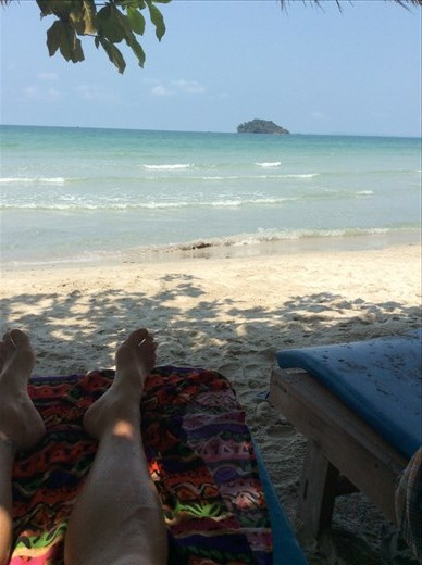 Our view every day at Sihanoukville.