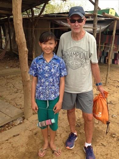 Kevin and Lisa at Bamboo train village.