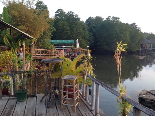 View of river from our Hotel at Sihanoukville.