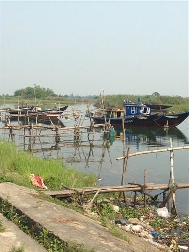 Boats on Cam Kim Island