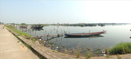 Pano view from Cam Kim looking back at HoiAn