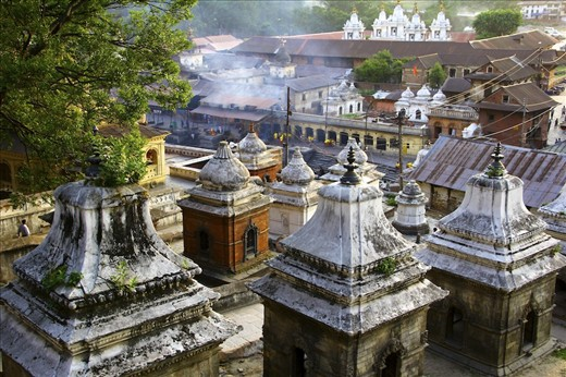 Pashupatinath temple ashes being carried downstream reborn the next life