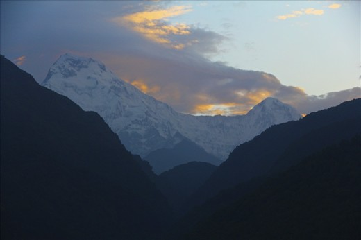 Sense of wonder after a long day of trekking the Annapurna circuit