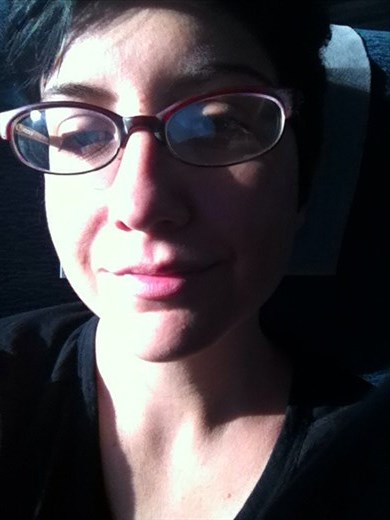 On the train to Chicago just after saying goodbye. I don't think I have any other photo of myself with so many emotions on my face! All the feels!!