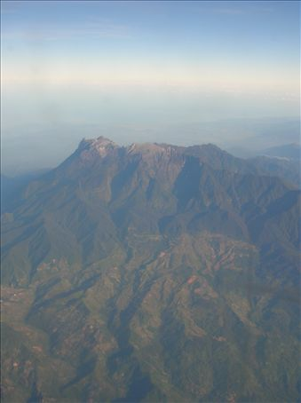 Mount Kinabalu from the air.