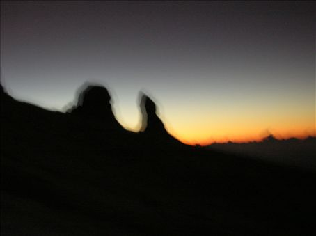 Donkey's Ears at sunrise.
