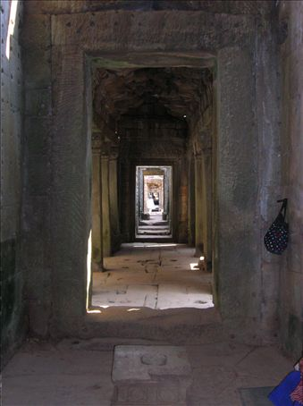 Series of doors in a Baphuon enclosure.  Enclosures always ran either east-west or north-south.