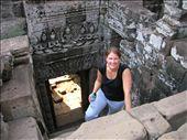 Whitney climbing the Bayon at Angkor Thom.: by whitneyj, Views[248]