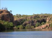 The Katherine River carved out the orange sandstone to form the 13 gorges.: by whitneyj, Views[322]