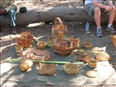Pandanus leafs are dried, died with fruits and tree barks, and then woven into baskets, bowls, mats, and decorations.: by whitneyj, Views[364]