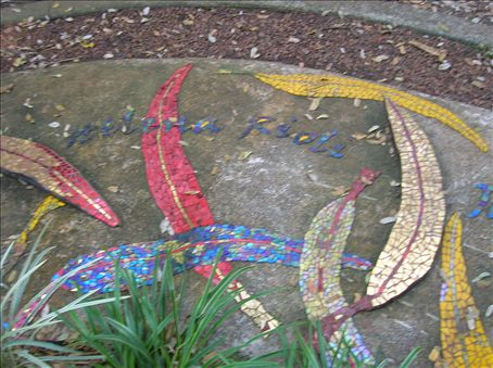 Mosaic dedication.