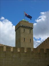 Australian flag atop the Bli Bli Castle.: by whitneyj, Views[163]