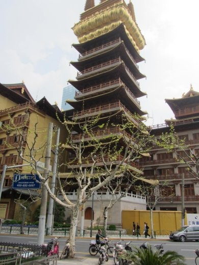 Jing'an temple tower. North-West in Shanghai