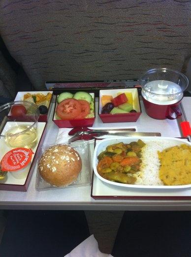 Asiana plane food.