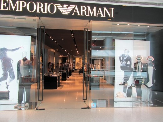 High fashion window and store design.