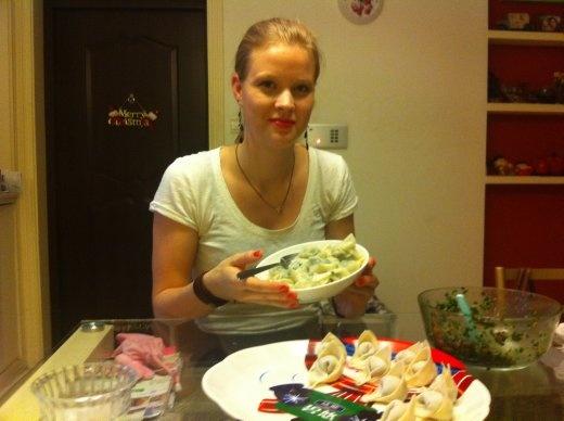 Made dumplings(jiaozi) with Ren