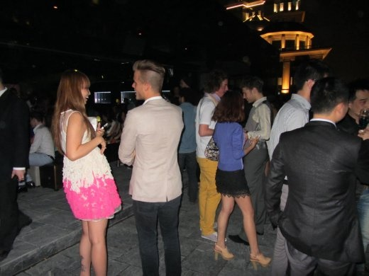 Fashionable and top dressed crowd out for the Thursday party at Zeal club.