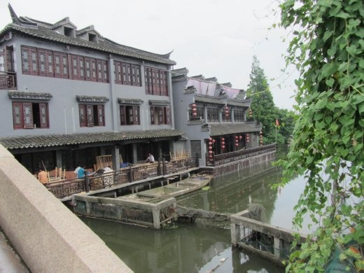 Old Chinese style housing being renovated.
