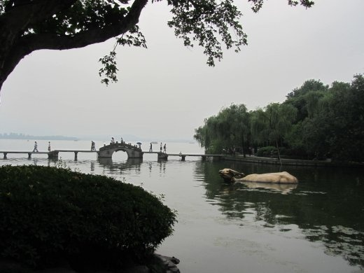 Legend of bull that created the water of West Lake in ancient times.