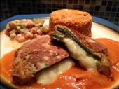 Plate and serve the stuffed cactus with the warm sauce.: by wildtastebud, Views[127]