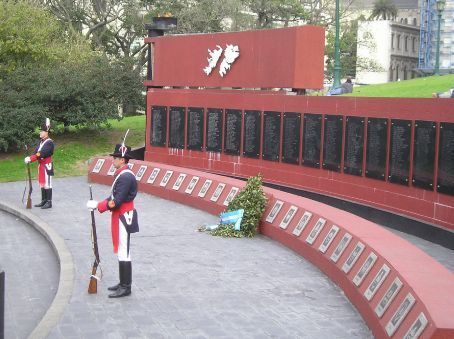 Don't mention the War. The Falklands War Memorial in Buenos  Aires.