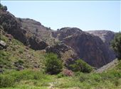 Looking up at Livanian from the bottom of the Aradena Gorge.: by will, Views[790]
