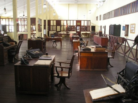 The company offices.