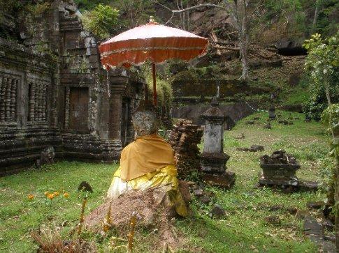 A Buddha at Wat Phou.