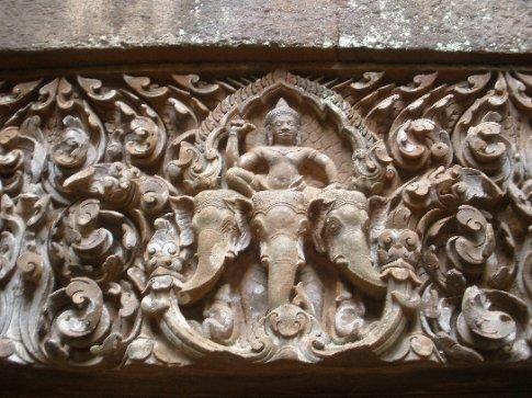 A freize detail at Wat Phou.