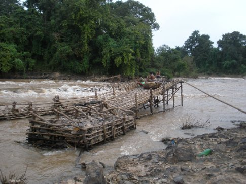 One of the fish traps.