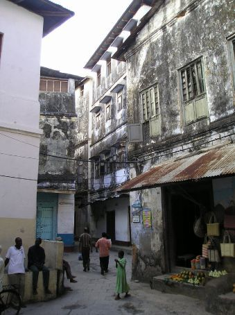 A street in Stone Town.