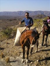 Our guide wth calf, note the protective 'shield' on his saddle to protect against thorns. : by willlou, Views[314]