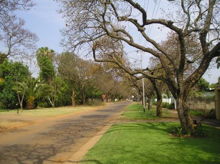 The leafy suburbs of Pretoria.