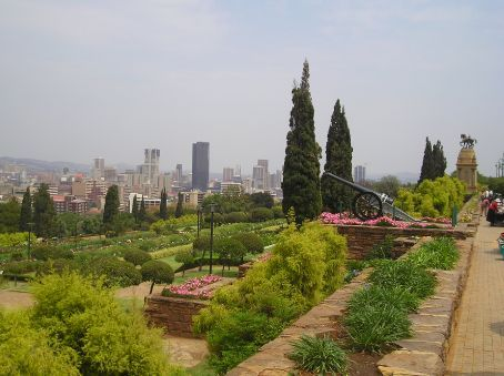 Looking across from the Union Buildings to downtown Pretoria.