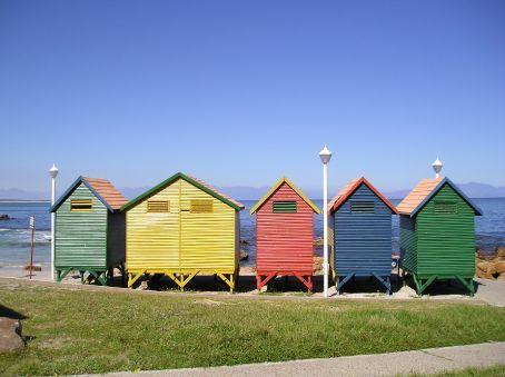 Edwardian bathing huts at False Bay.