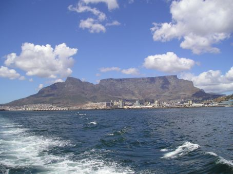 Cape Town as seen from the boat to Robben Island.